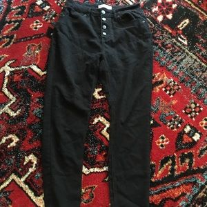 Black Stretchy High-Waisted Skinny Jeans